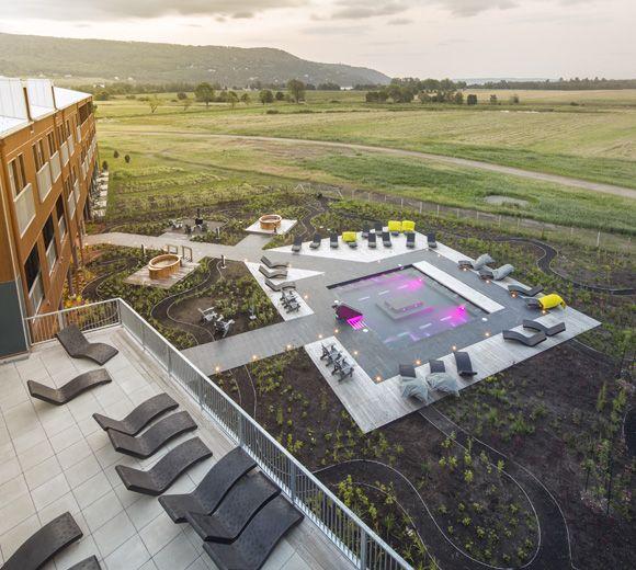 LEMAYMICHAUD | Quebec | Architecture | Interior Design | Spa | Seating | Exterior | Landscape | Lighting