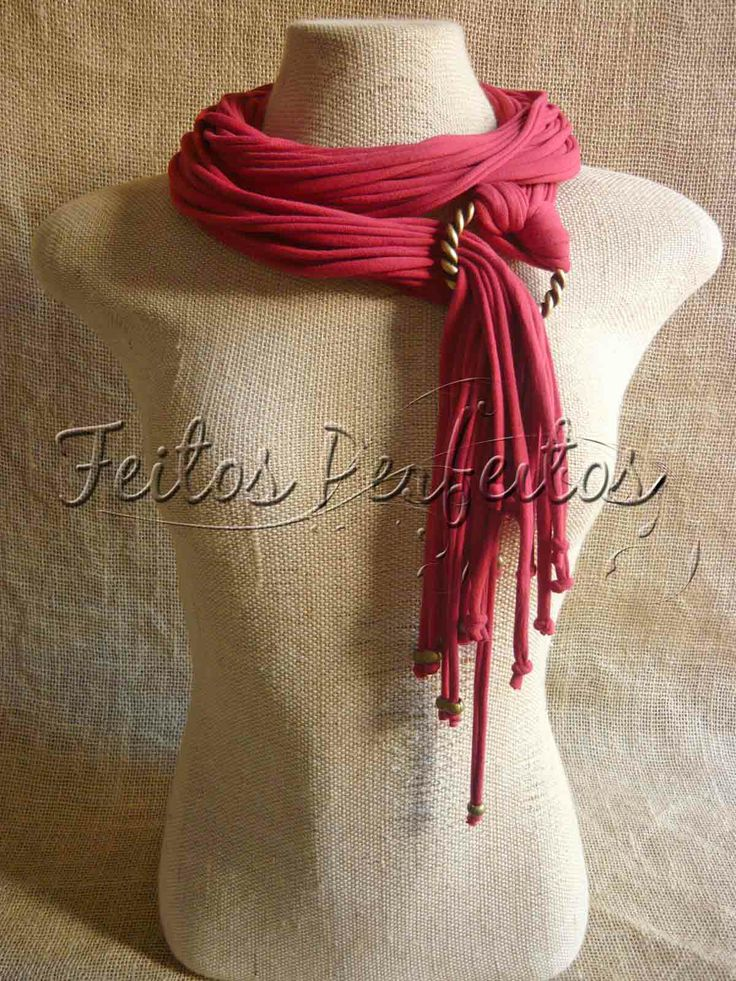 Scarf Necklace in Red