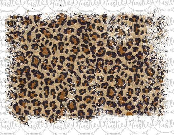 Distressed Leopard Sublimation Design Background Backsplash Png Graphic Clipart Digital Download Sublime Digital Paper Clip Art