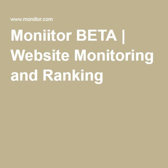 Moniitor BETA | Website Monitoring and Ranking
