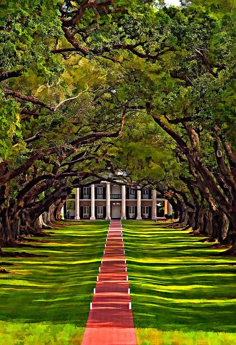 Oak Alley Plantation West Of New Orleans On The