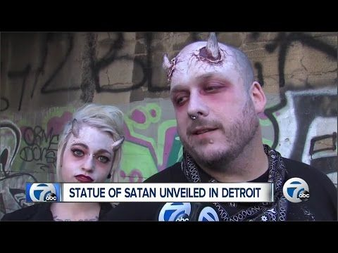 Apollyon Rising : Satan Statue unveiled during Largest Public Ceremony on Tisha B'Av (Jul 26, 2015) - YouTube