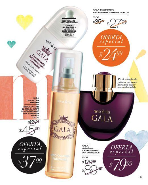 Perfume Femenino Gala , deo corporal y antitraspirante rollon de la misma linea .