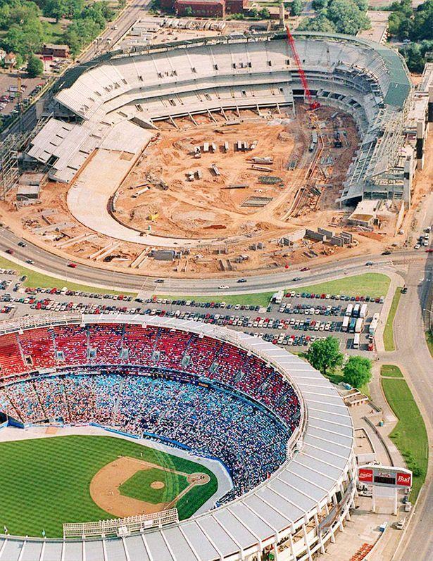 Centennial Olympic Stadium (now Turner Field) under construction ...