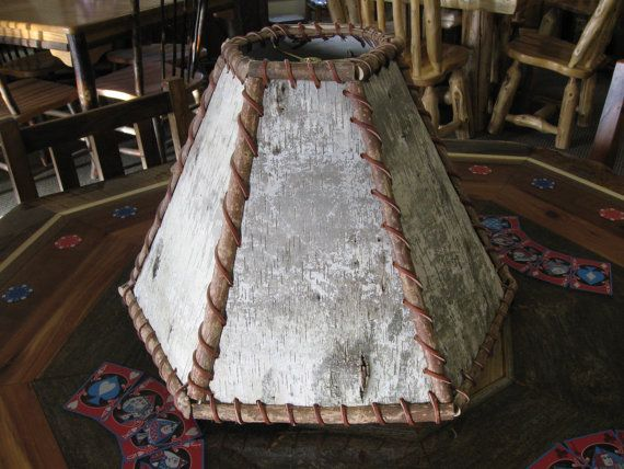 BIRCH BARK LAMP Shade  Rustic Lamps Shades by ViennaWoodworks, $145.00
