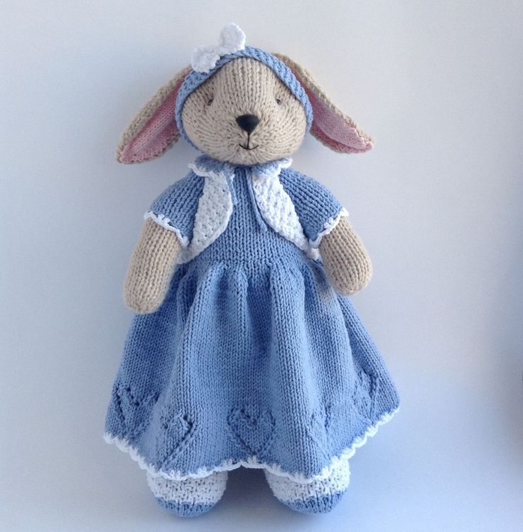 A personal favourite from my Etsy shop https://www.etsy.com/listing/523653617/knit-stuffed-animal-bunny-rabbit-hand