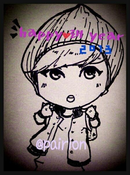 [Fanart Exo]Lay chibi HNY