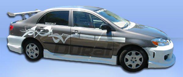 street racing car wings for toyota corolla   2003-2008 Toyota Corolla Drifter Duraflex Body Kit