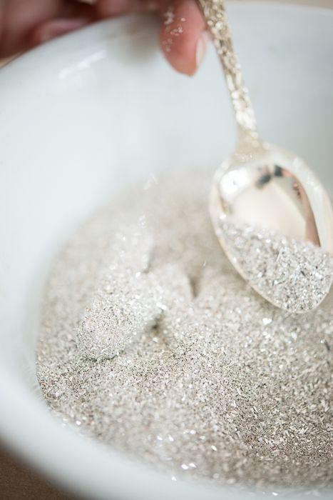 glass glitter letter tutorial | miss mustard seed