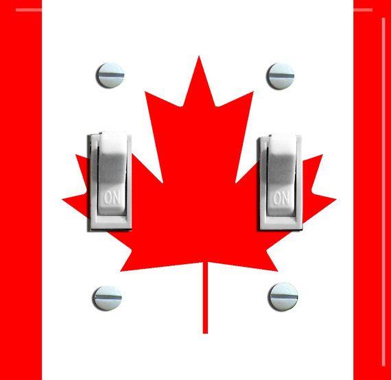 Kanada Flagge Schalter Platte einzeln oder von VintageSwitchPlates