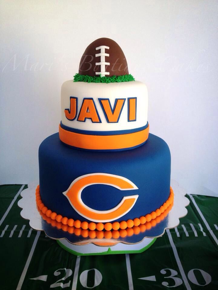 Chicago Bears Cake - by Mari's Boutique Cakes