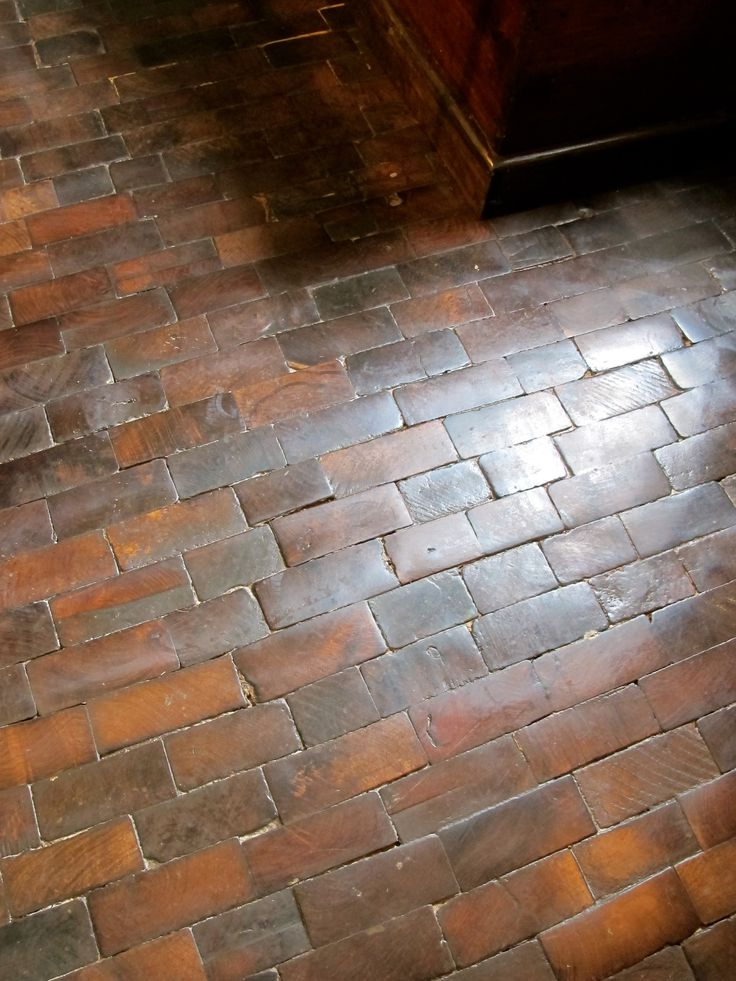 Wood floor, looks like bricks!