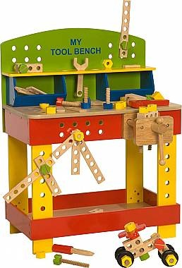 BigJigs Workbench..construction keeps him busy and toy tidy too #MyOrganizedChaos