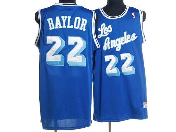 brand new 68a00 a2fbc Mitchell and Ness Lakers #22 Elgin Baylor Stitched Blue ...