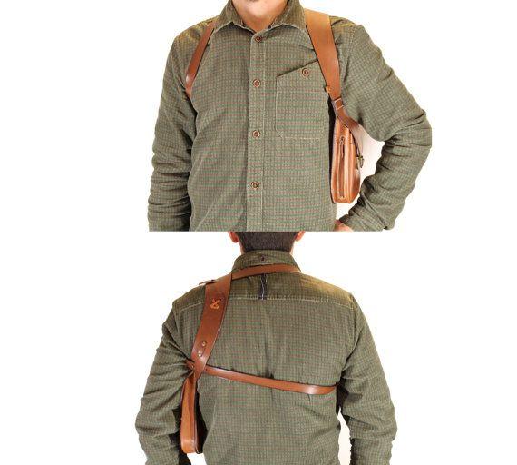 Sacoche holster d'épaule en cuir DELUXE Made par OakCreationCuir