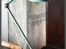 DDR Midgard Lampe - Werkstattlampe - Gelenklampe