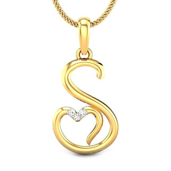 01e0de3eb809 Alphabet Pendant Designs In Gold | Gold Lockets With Letters ...