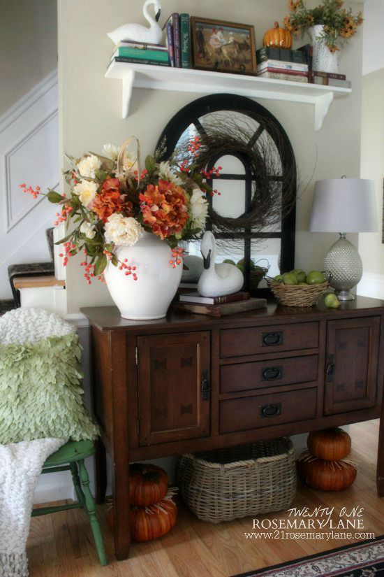 Get out my wooden shelves and use this autumn 2015 Fall Home Tour