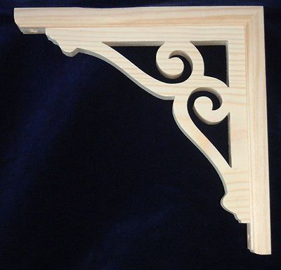 L&G's Victorian Gingerbread Fretwork Porch Corner Trim or Shelf Brackets 10""