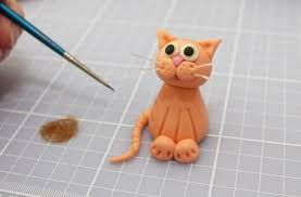 Image result for how to make a fondant cat                                                                                                                                                                                 More