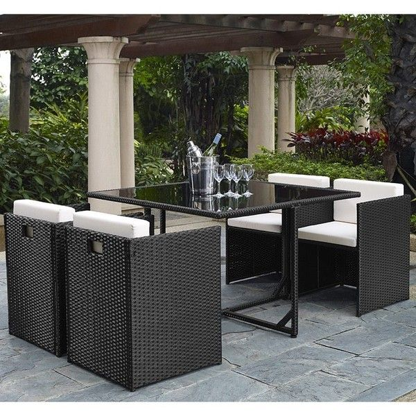 dg casa marbella 5piece outdoor dining set 790 liked on polyvore - Outdoor Set