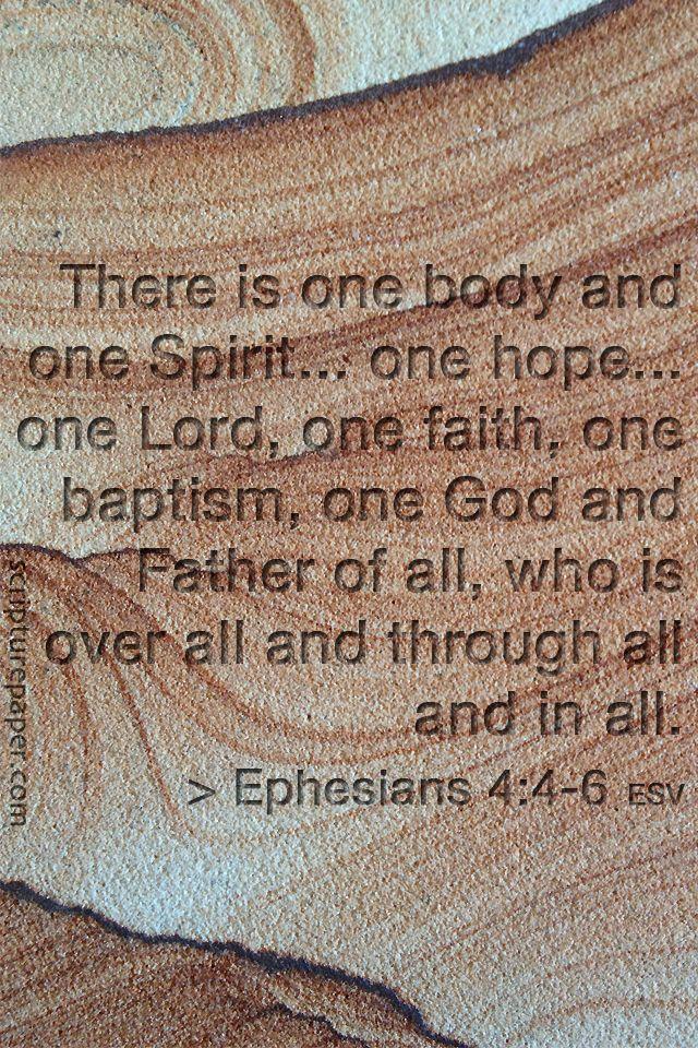 #Scripture                                 Ephesians 4:4-6