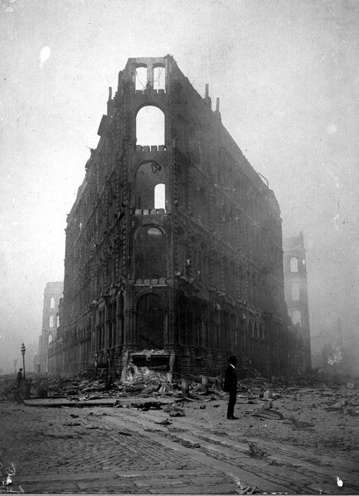 San Francisco, California, Earthquake April 18, 1906. Phelan Building. April 20, 1906.