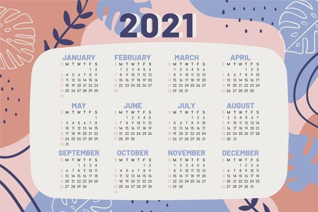 Hand Drawn New Year 2021 Calendar | How to draw hands, Bts ...