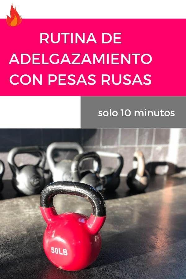 bajar de peso con pesas rusas
