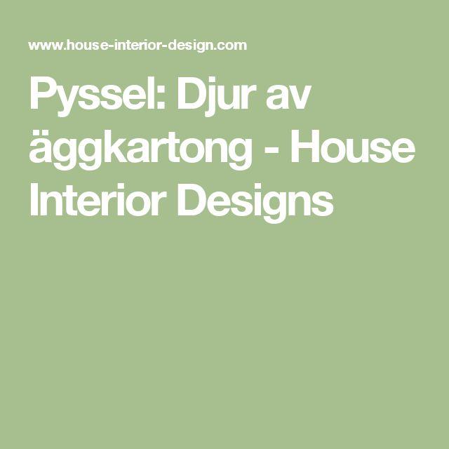 Pyssel: Djur av äggkartong - House Interior Designs