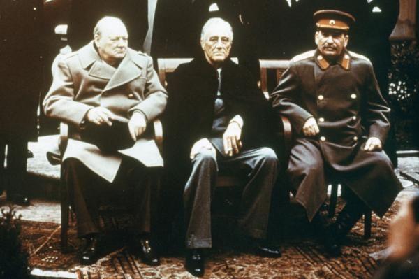 By United Press International On Feb. 4, 1945, Winston Churchill, Franklin D. Roosevelt and Josef Stalin, the Big Three, meet at Yalta to…