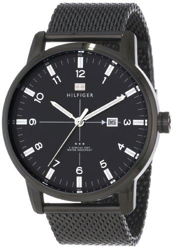 Tommy Hilfiger Men's 1710328 Casual Sport 3-Hand Stainless Steel Case and Mesh Bracelet Watch $76.24 (save $58.76)