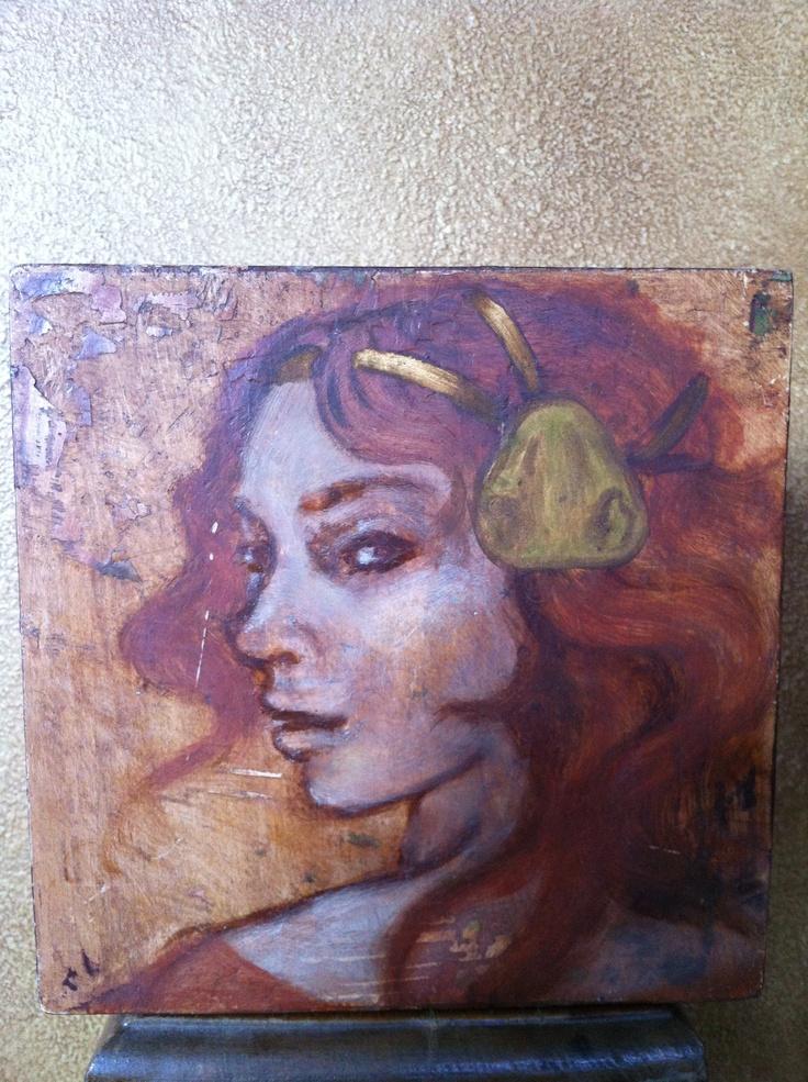 'Lyse' oil & wax on wood    Maeve Fianna Callahan.  - available - 80.