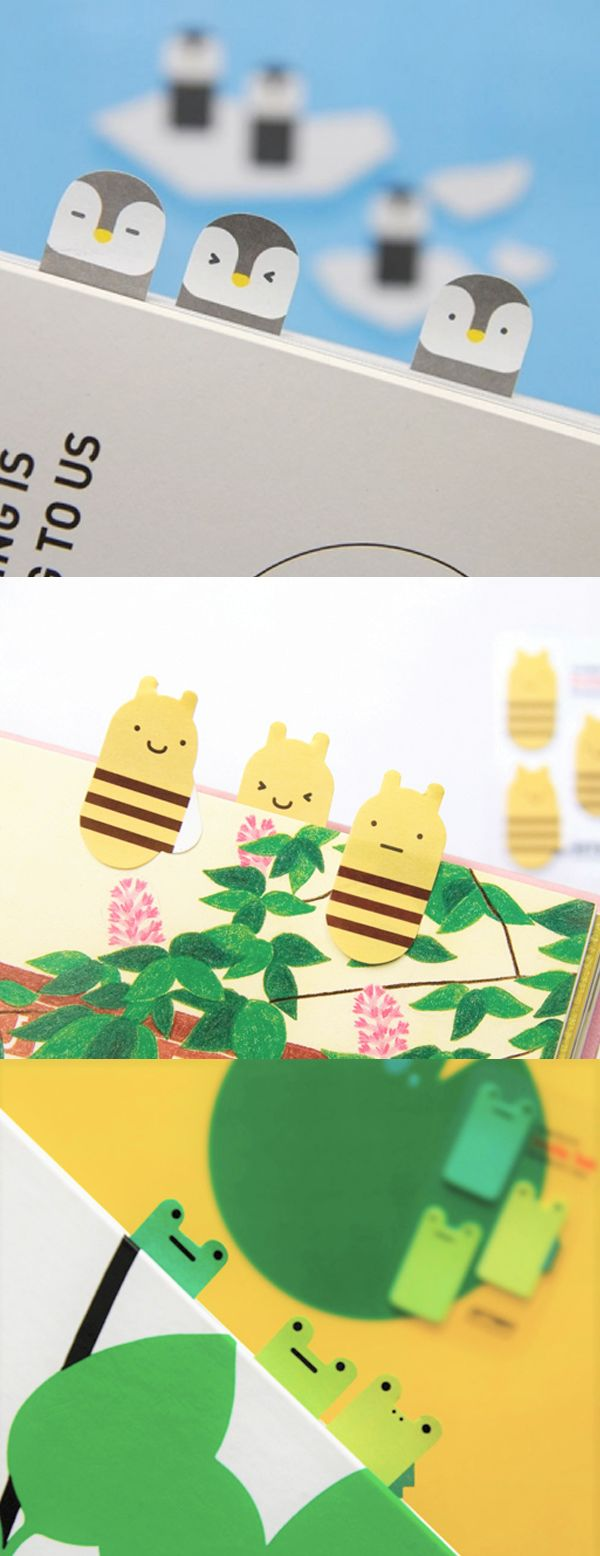 The Index Sticky Notes Collection is a super adorable reading and studying mate. Use the cute animal sticky notes to index or bookmark your notebooks, textbooks, planners and any books you have! This useful sticky note are also perfect to mark import parts of the book or write a short message!
