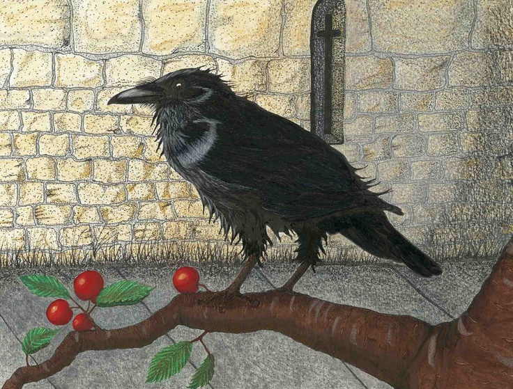 """"""" Raven at the Tower"""". The story of the Ravens at the Tower of London is a wonderful saga.   This is painted in acrylic and prints are available. nicolablakey.webs.com"""