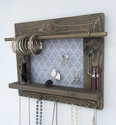 Jewelry Organizer, Earring Holder, Necklace Holder, Barnwood Frame, Jewelry Holder, Jewelry Display, Hanging Jewelry Organizer, Wood Jewelry Organizer, Wall Mount Jewelry Holder
