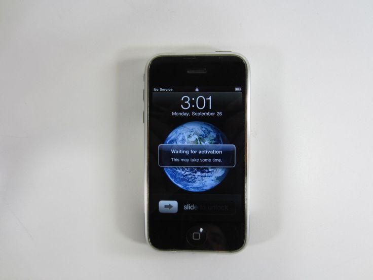 Rare Apple iPhone Original 1st Generation 8GB Silver Smartphone A1203   eBay