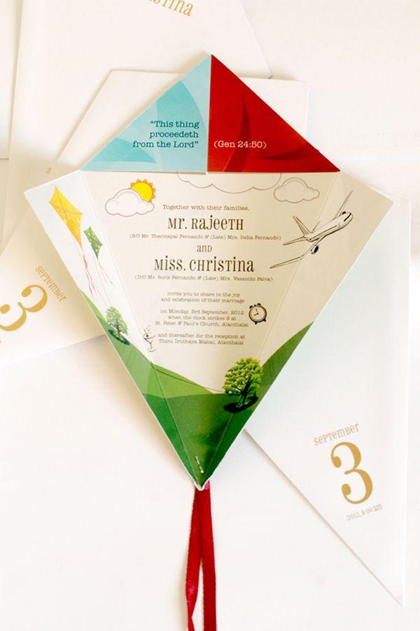 wedding kites | kite wedding invitation wedding invitation designed for a friend