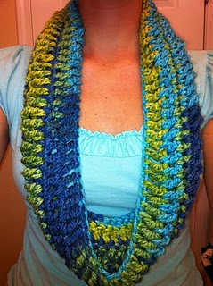 Free Crochet Under an Hour Cowl Pattern.
