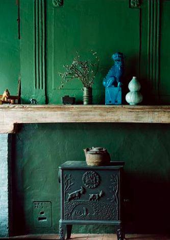mantleModern House Design, Wall Colors, Green Interiors, Green Wall, Blue Dogs, Interiors Design, Living Room, Design Home, Colors Inspiration