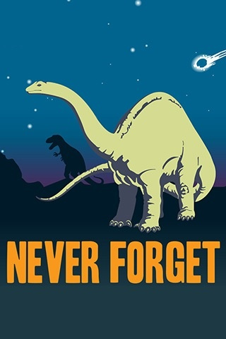 I own this dinosaur poster. It is hanging above my couch.