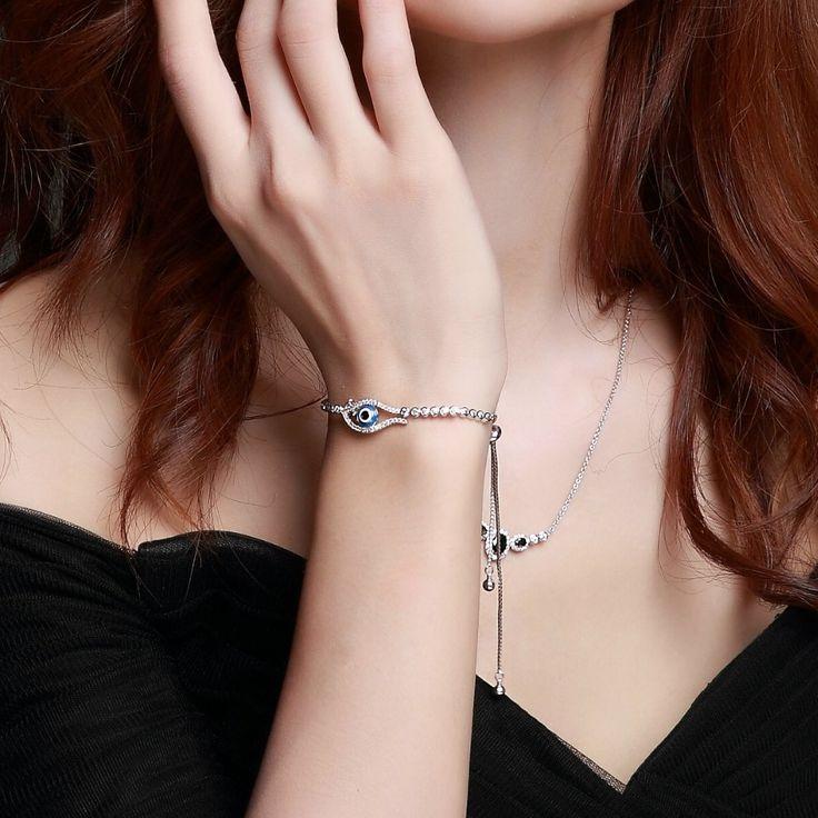 Latest fashion Evil eye trendy bracelet Turkish design Highest quality Adjustable free size beautiful bracelet for women