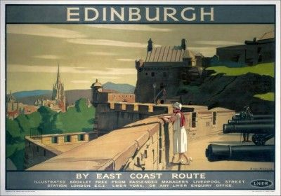 edinburgh vintage travel | Edinburgh Castle Vintage Railway Travel Poster Print | eBay