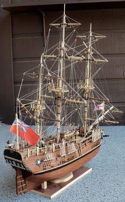 Conctructo's 1/60 scale H.M.C. Endeavour Captain James Cook commanding.