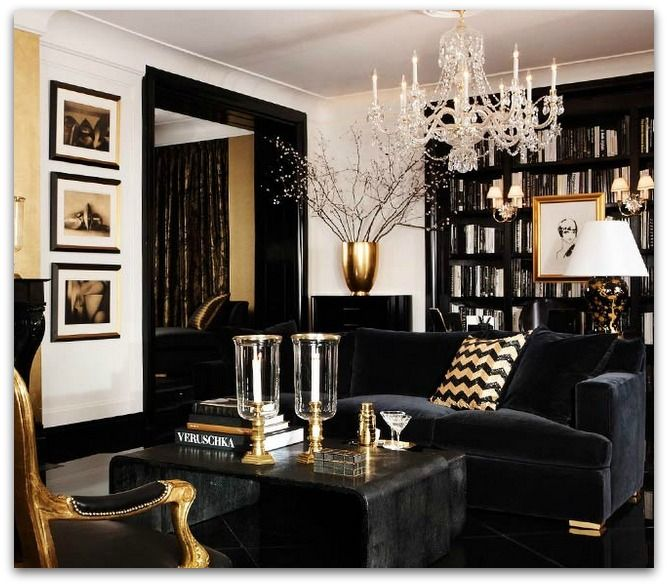 Black And White And Gold Living Room 48 best black white gold everything images on pinterest | home