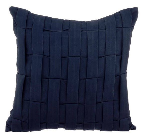 Suede Navy Blue Pillow Case 16x16 Designer Pillow Etsy In 2020 Suede Throw Pillows Blue Throw Pillows Blue Pillow Cases