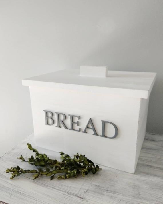 Farmhouse Bread Bin Wood Scandinavian Bread Box Storage Etsy In 2020 Wooden Bread Box Shabby Chic Kitchen Rustic Shabby Chic