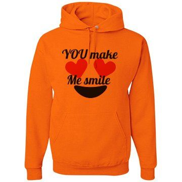 You make me smile   Women's hoodie in Orange color .best for you and your friends.