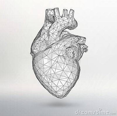Fondo creativo del concepto del corazón humano Ejemplo EPS 10 del vector para su diseño