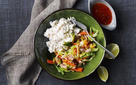 Arla.dk Asiatisk krydret risotto til kulørt wok